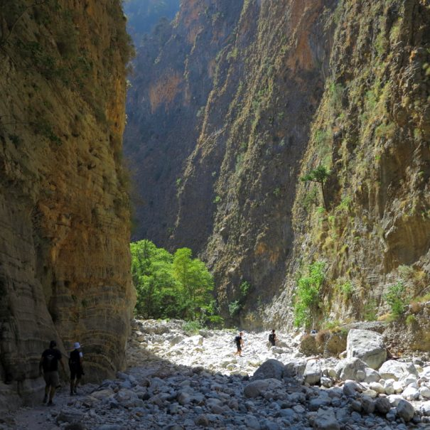 Hike inside Samaria gorge